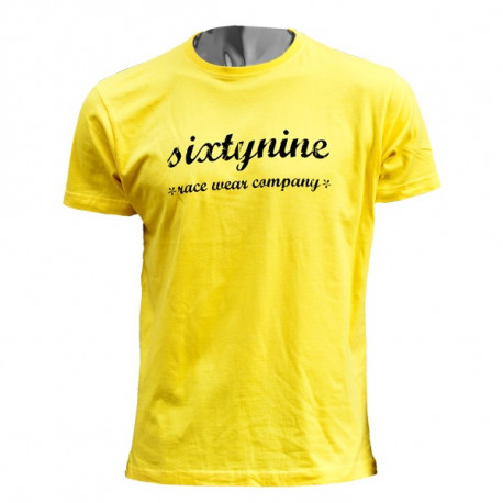 t-shirt RETRO yellow- black
